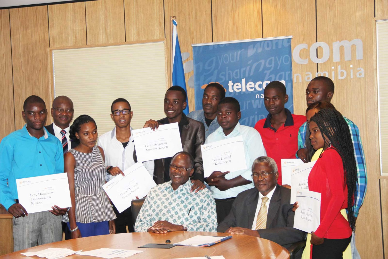 Telecom Namibia bursary recipients ecstatic by Honorine Kaze Mon, 27